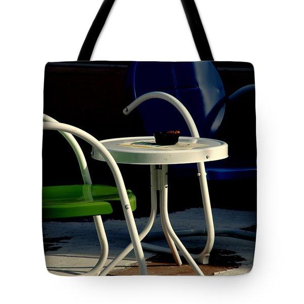 Blue And Green Tote Bag by Susanne Van Hulst