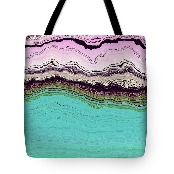 Blue And Lavender Tote Bag
