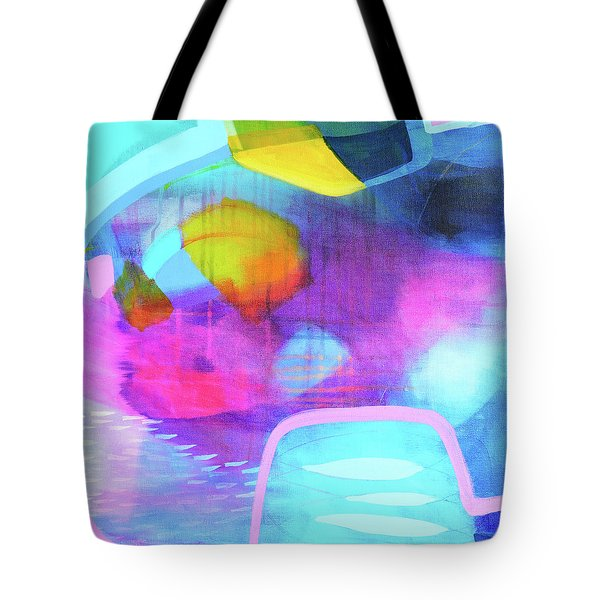 Blue And Pink Abstract Tote Bag