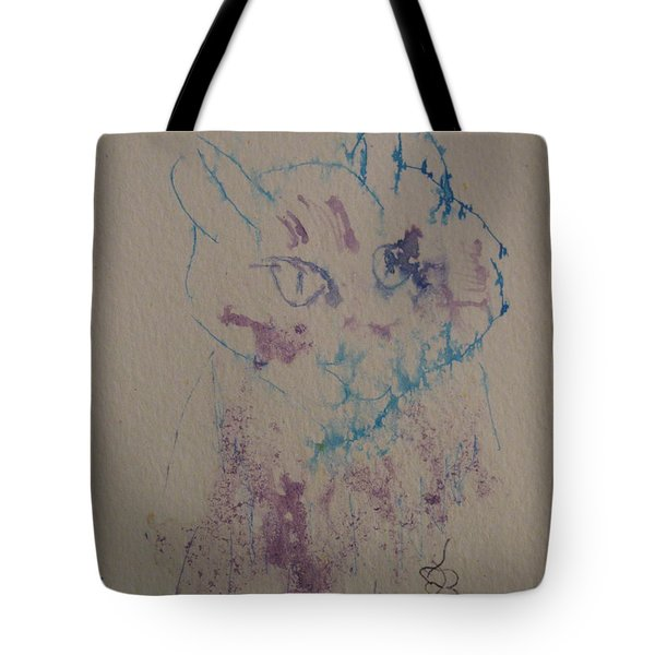 Blue And Purple Cat Tote Bag