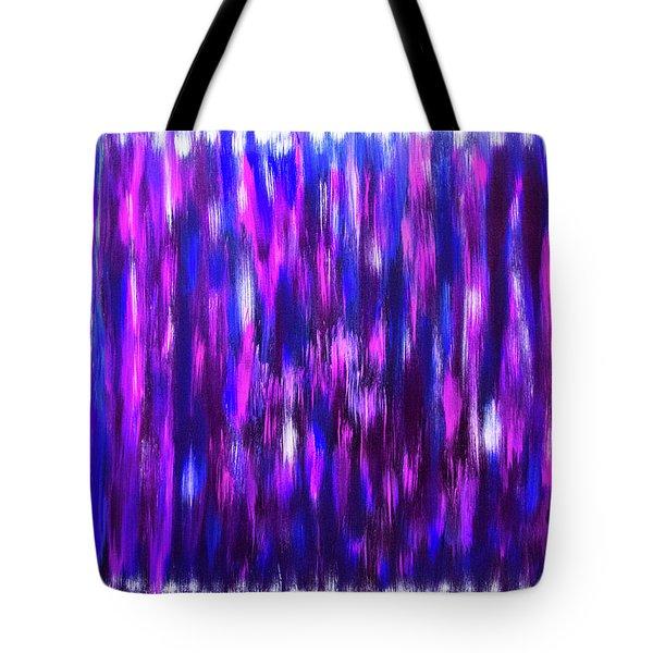 Blue And Purple Rain Tote Bag
