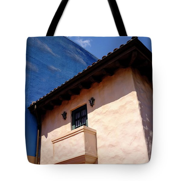 Blue And Vintage Color Architecture Photo In Saint Augustine Flo Tote Bag