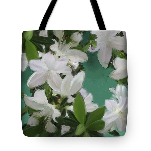 Blue And White Flower Art 2 Tote Bag