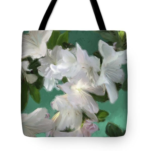 Blue And White Flower Art 3 Tote Bag