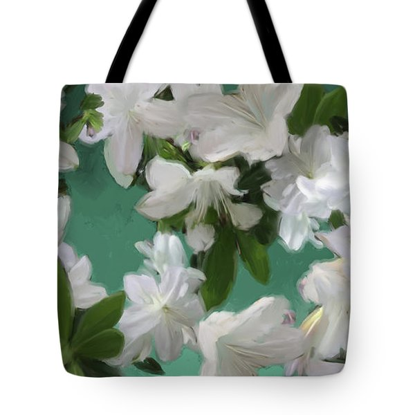 Blue And White Flower Art  Tote Bag