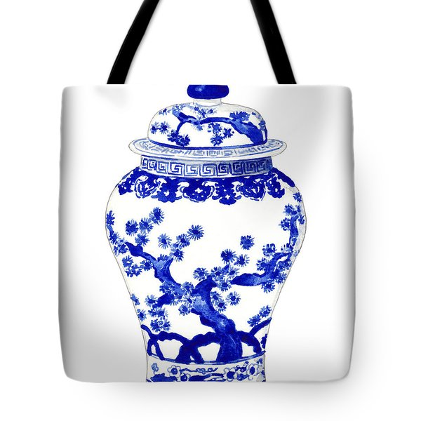 Blue And White Ginger Jar Chinoiserie 10 Tote Bag
