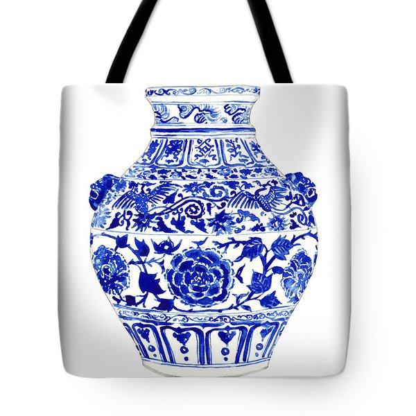 Blue And White Ginger Jar Chinoiserie 4 Tote Bag