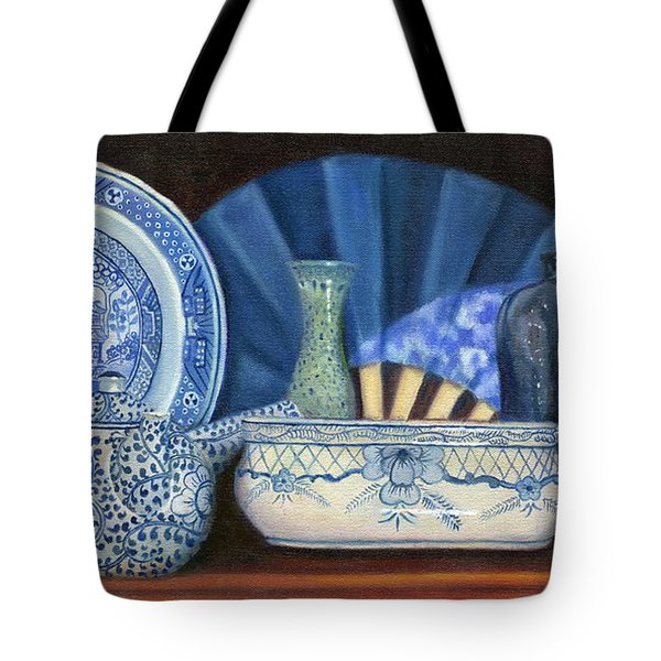 Blue And White Porcelain Ware Tote Bag