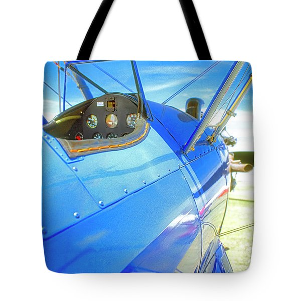 Blue And Yellow Bi Wing  Tote Bag