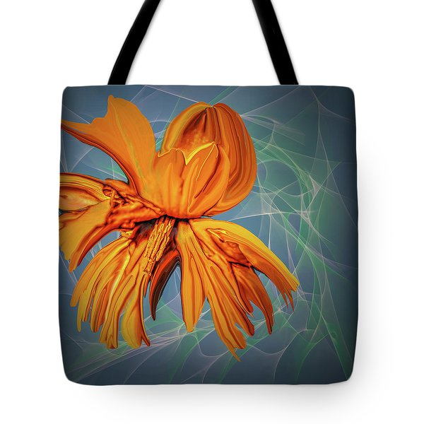 Tote Bag featuring the digital art Blue And Yellow #h6 by Leif Sohlman