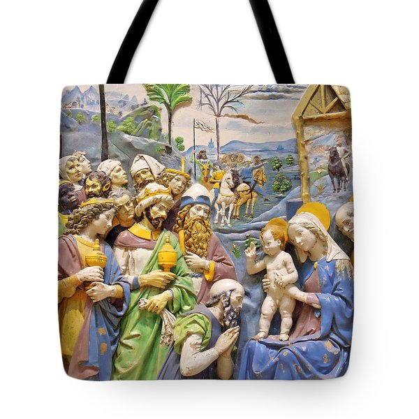 Tote Bag featuring the photograph Blue And Yellow by Munir Alawi