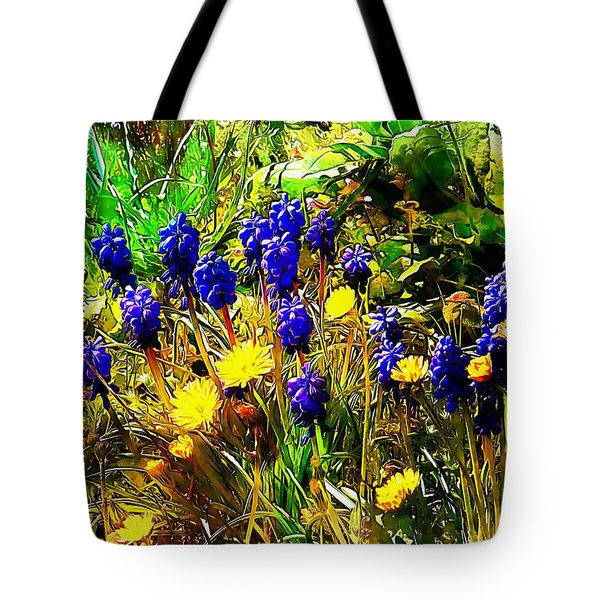 Blue And Yellow Wild Flower Medley Tote Bag