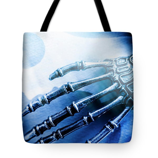 Blue Android Hand Tote Bag
