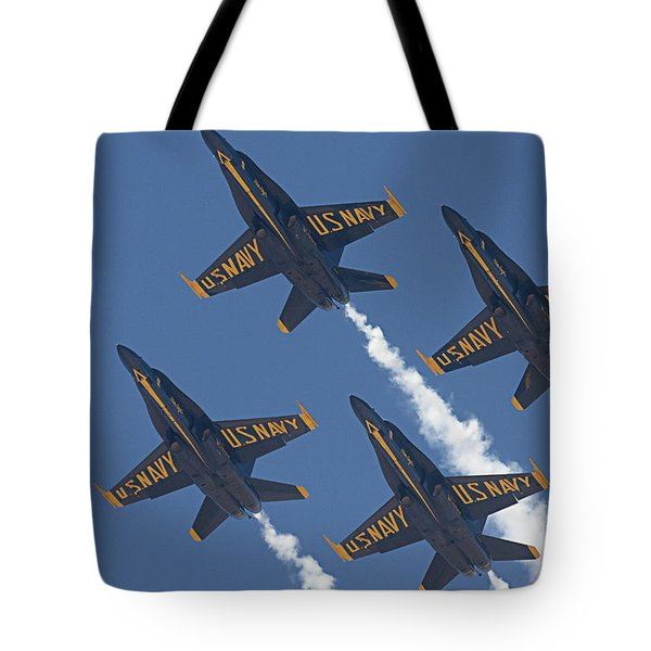 Blue Angels Blue Skies Tote Bag