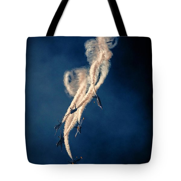 Blue Angels Breakout Tote Bag by John A Rodriguez
