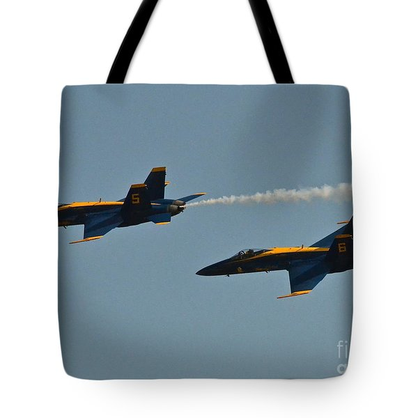 Tote Bag featuring the photograph Blue Angels by Carol  Bradley