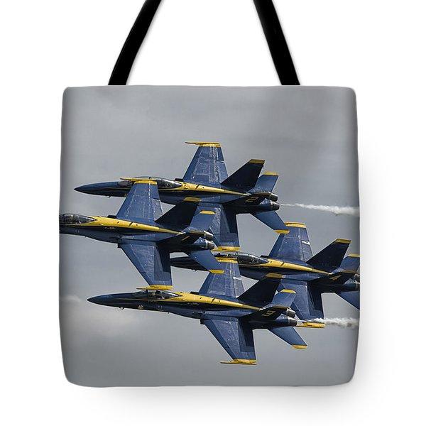 Blue Angels Diamond Tote Bag
