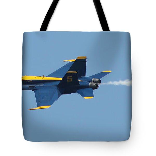 Blue Angels F/a-18 Hornet Tote Bag by Robert Banach