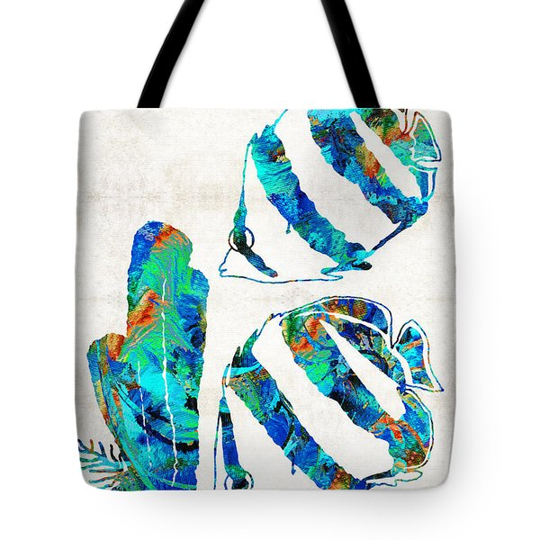 Blue Angels Fish Art By Sharon Cummings Tote Bag