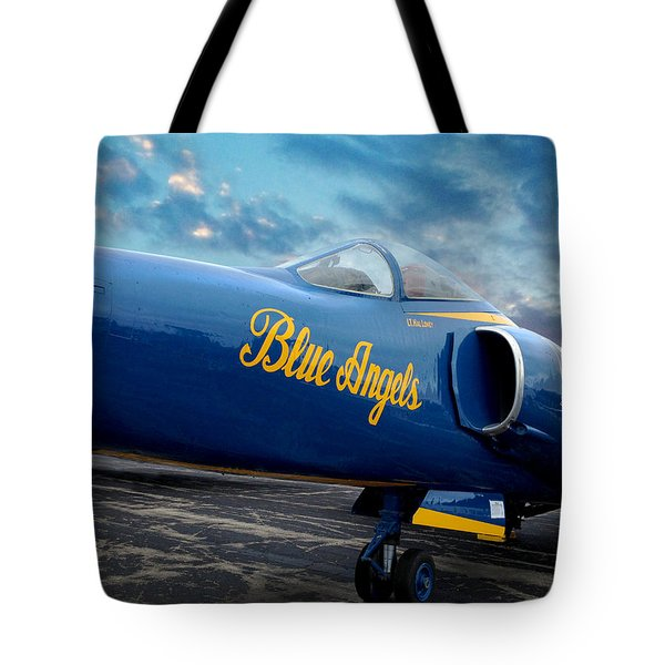 Blue Angels Grumman F11 Tote Bag by Rod Seel