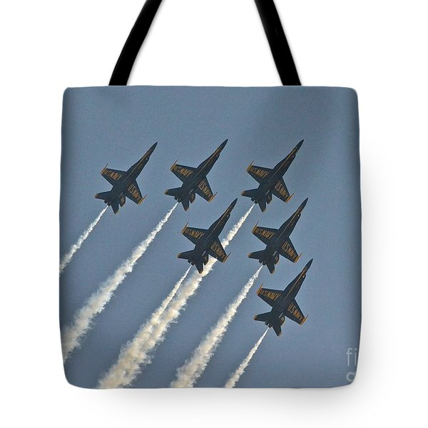 Tote Bag featuring the photograph Blue Angels II by Carol  Bradley