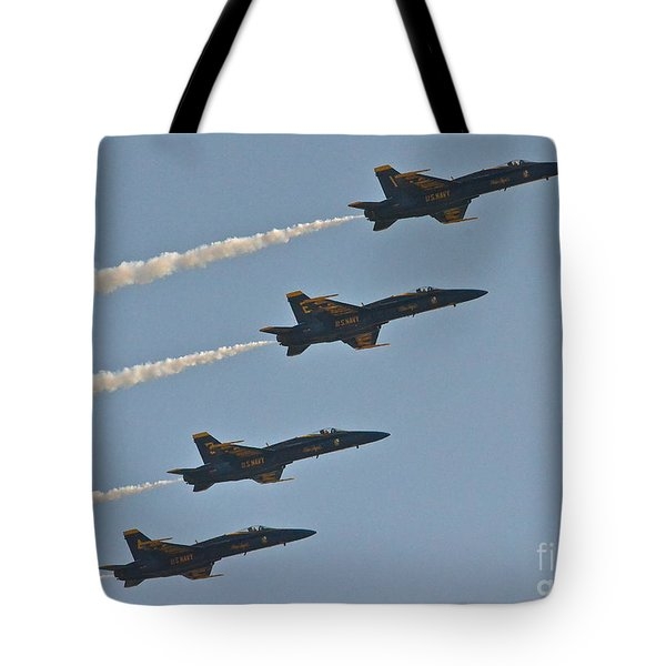 Tote Bag featuring the photograph Blue Angels IIi by Carol  Bradley