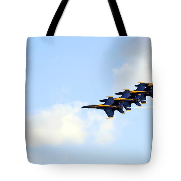 Blue Angels In Formation II Tote Bag