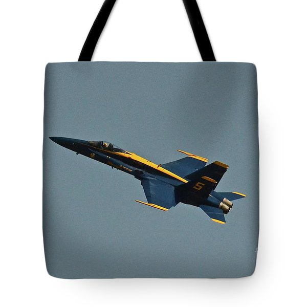 Tote Bag featuring the photograph Blue Angels Number 5 by Carol  Bradley