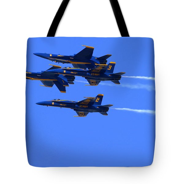 Blue Angels Perform Over San Francisco Bay Tote Bag