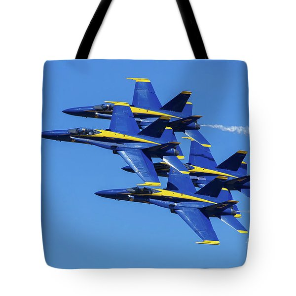 Blue Angels Very Close Formation 1 Tote Bag