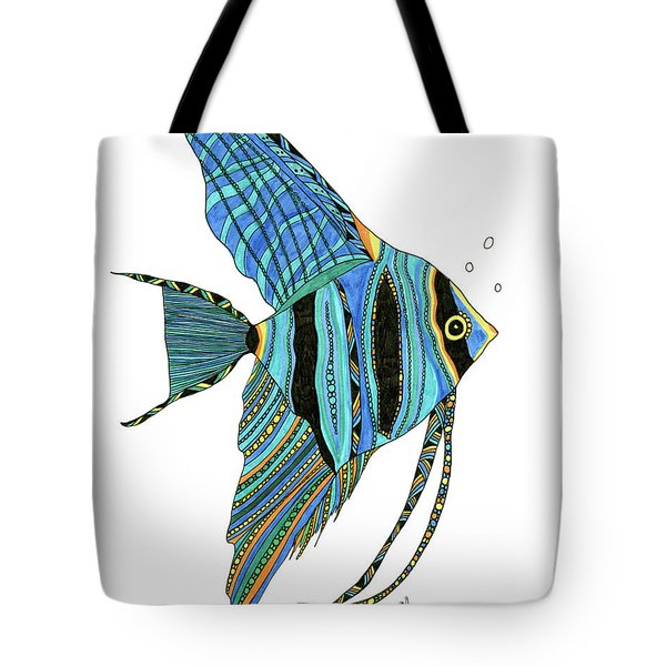 Blue Anglefish Tote Bag