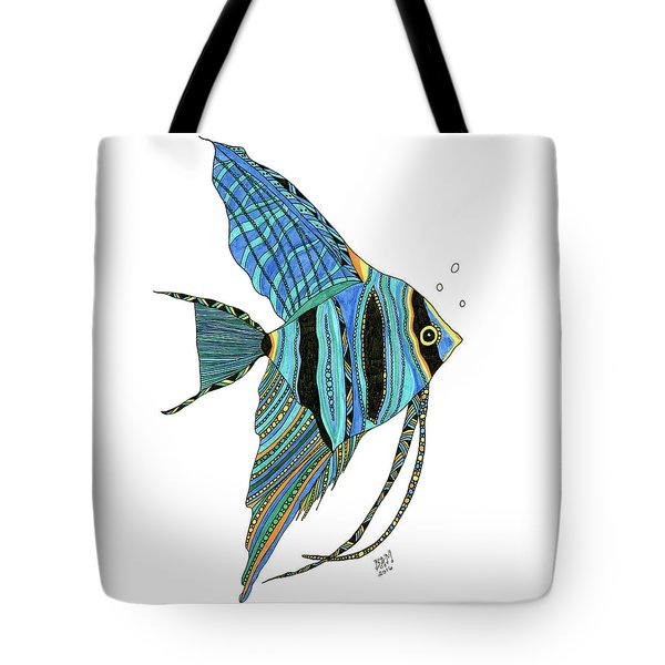 Blue Anglefish Tote Bag