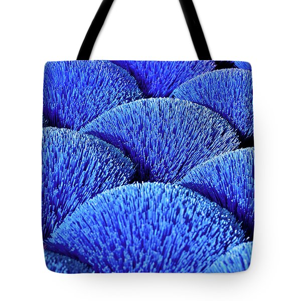 Tote Bag featuring the photograph Blue Asia Sound by Silva Wischeropp