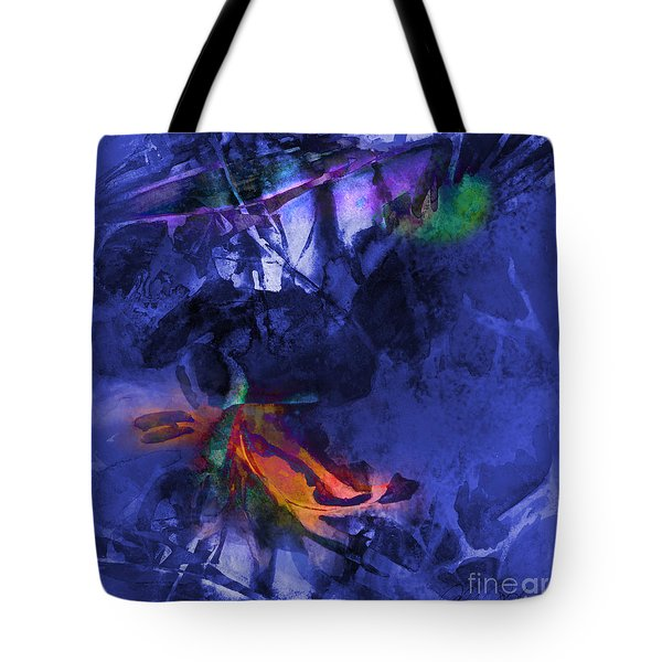 Blue Avatar Abstract Tote Bag