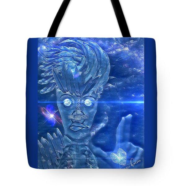 Blue Avian Tote Bag