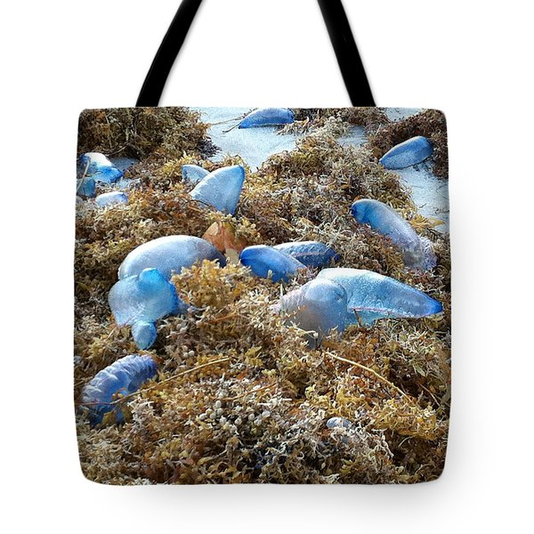 Seeing Blue At The Beach Tote Bag