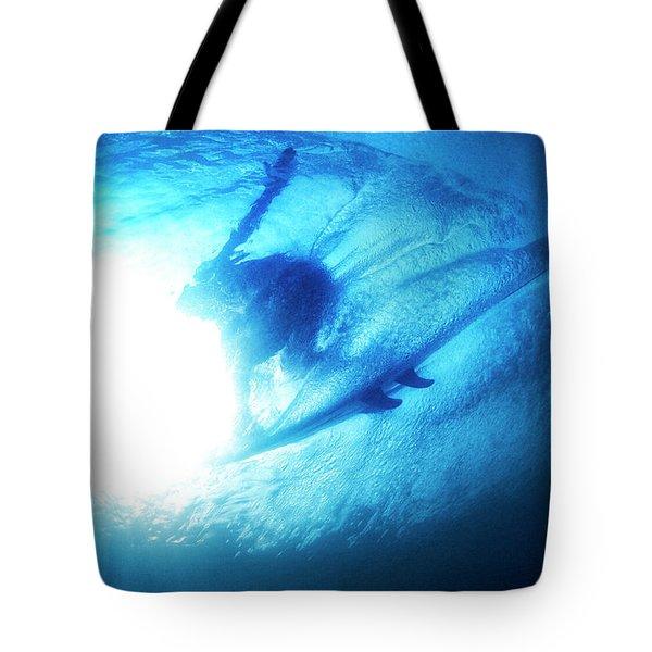 Blue Barrel Tote Bag