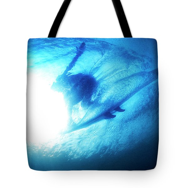 Blue Barrel Tote Bag