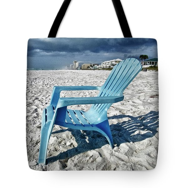 Blue Beach Chair Tote Bag