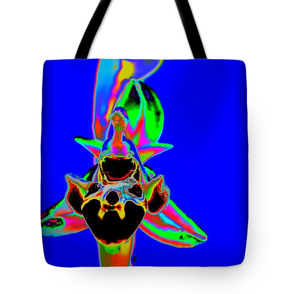 Blue Bee Orchid Tote Bag