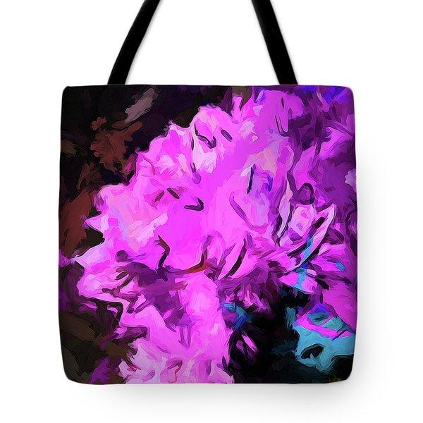 Blue Behind Pink Tote Bag