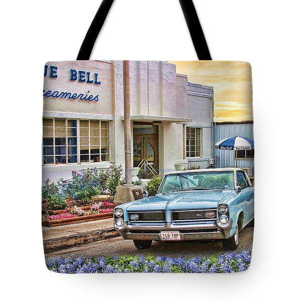 Blue Bell, Bluebonnets, And My Grand Prix Tote Bag