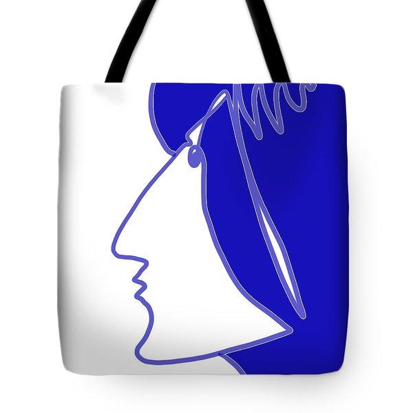 Blue Belle Tote Bag