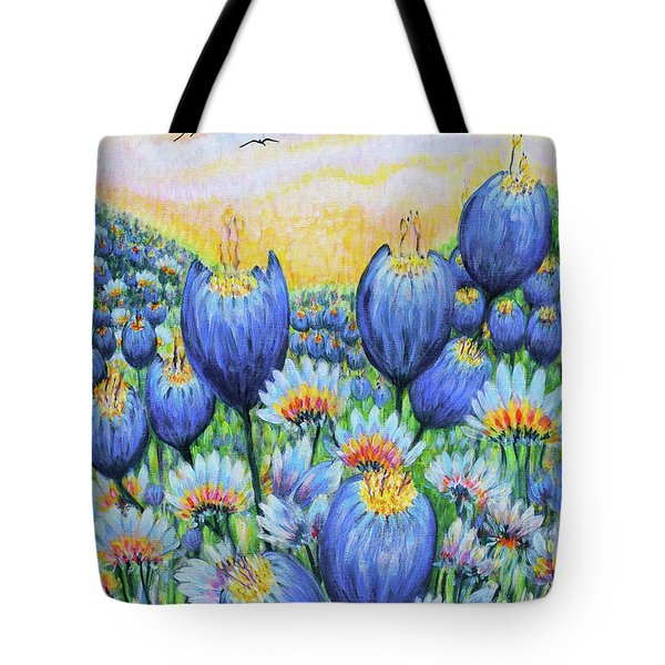 Blue Belles Tote Bag by Holly Carmichael