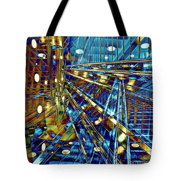 Tote Bag featuring the digital art Blue Berlin Sound by Silva Wischeropp