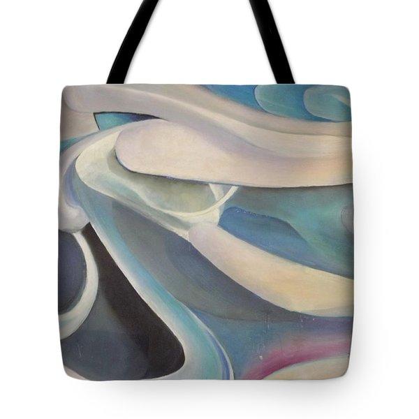 Blue Tote Bag by Bernie Bishop