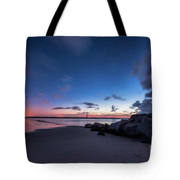 Blue Betsy Sunrise Tote Bag by Robert Loe