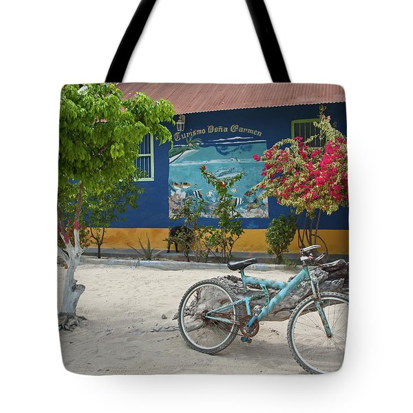 Blue Bicycle Tote Bag