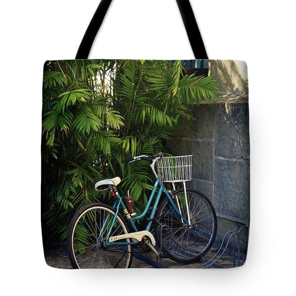 Blue Bike-  By Linda Woods Tote Bag