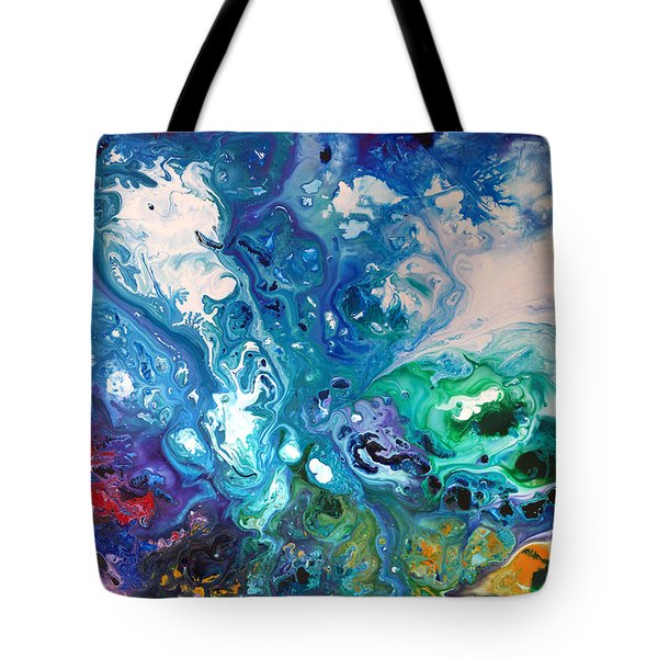 Blue Billows Tote Bag